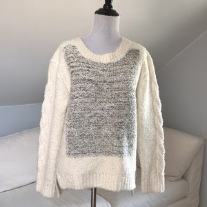 J.O.A Chunky Knit Color Block Sweater